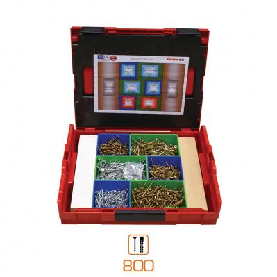 800 chevilles SX / UX & vis tous matériaux - en coffret L-BOXX (compatible BOSCH Pro)