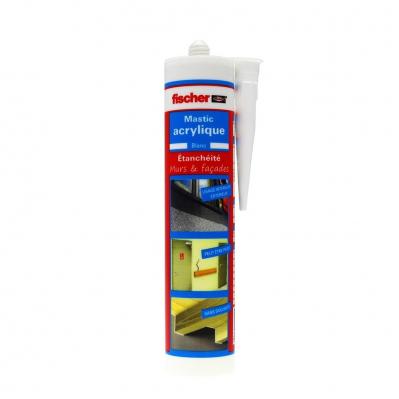 Mastic acrylique intérieur / extérieur - Blanc - Cartouche 310 ml
