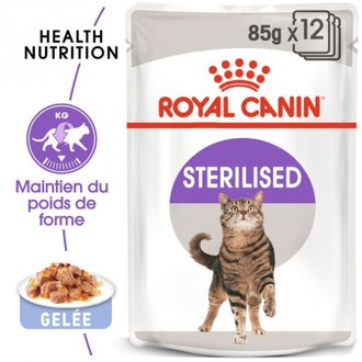 Royal Canin Sachets Sterilised - En gelée, 12 x 85 g