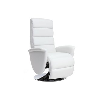 Fauteuil relax manuel blanc NELSON