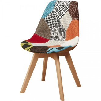 BOBOCHIC Chaise MEXICAN patchwork style scandinave Multicolore