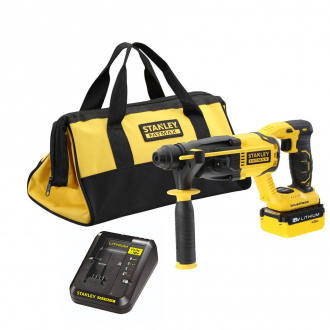 Perforateur BRUSHLESS SDS+ STANLEY FATMAX 18V - 1 bat Li-Ion 4Ah + chargeur