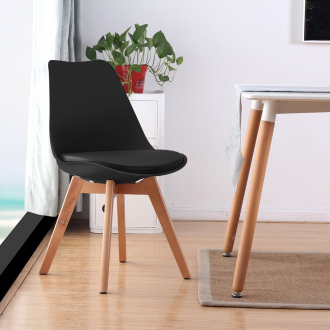 Pack de 4 chaises scandinaves STEEC patchwork Brico Privé