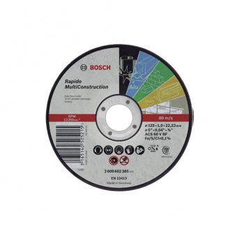 Disque universel BOSCH ∅125x1,6 mm - Rapido Multiconstruction