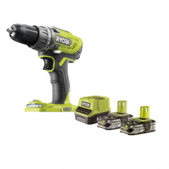 Perceuse-visseuse RYOBI 18V - 50Nm - 2 bat Li-Ion 2.5Ah + chargeur