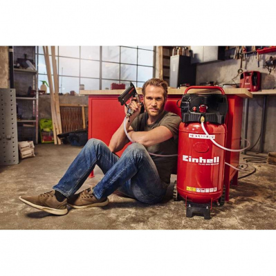 Compresseur vertical EINHELL 1500W - 50L - 10 bars - TH-AC 240/50/10 OF - 4006825597295