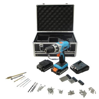 Coffret perceuse sans fil 14.4V Lithium - 2 Bat.
