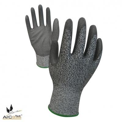 Gants anti-coupure - tricoté ultra léger - enduit PU - gris