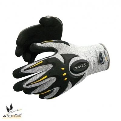f3c73879237 Gants antichoc & anti-coupure 5 - enduit nitrile sablé - gris/ ...