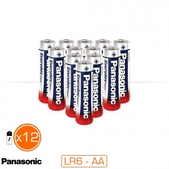 Pack de 12 piles alcalines AA / LR06 EVERYDAY POWER