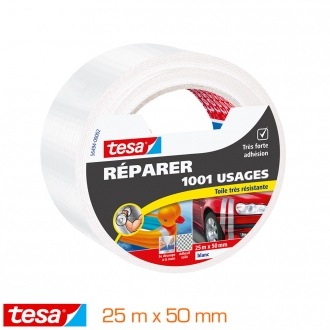 Réparer  Toilé  1001 Usages 25m x 50mm blanc