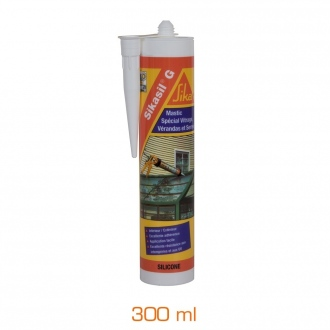 Silicone spécial vitrage Sikasil®-G - cartouche 300 ml - transparent