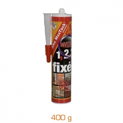 Colle fixation puissante Sika MaxTack® - transparent - cartouche 400 g