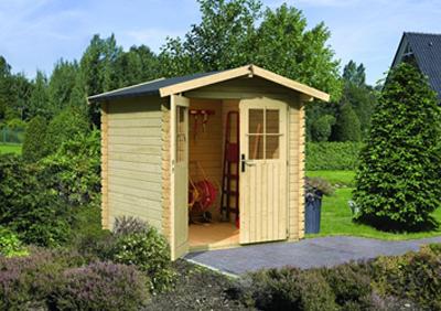 abri de jardin bois plancher double porte fenêtres