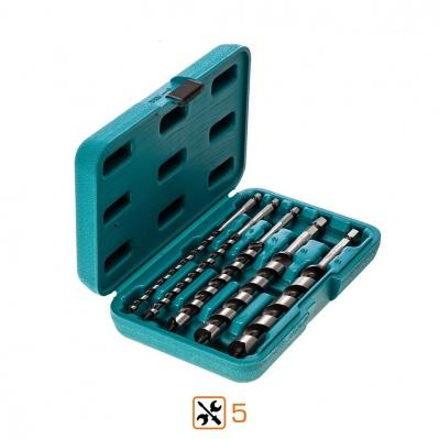Coffret de mèches a bois hexagonale DIN standard - 5 pièces