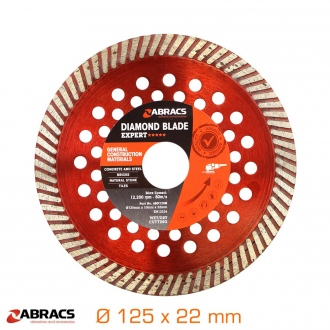 Disque diamant à jante continue Turbo - Ø125 x 22 mm