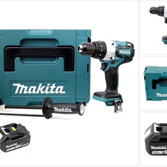 Makita DHP 481 T1J 18V Perceuse-visseuse à percussion sans fil Brushless 115 Nm + Coffret de transport Makpac + 1 x Batterie