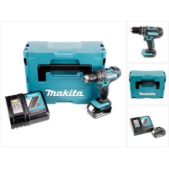 Makita DHP 482 RT1J - 18 V Li-Ion Perceuse visseuse à percussion sans fil avec coffret Makpac +1x Batterie BL 1850 5,0 Ah +