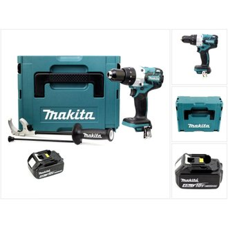 Makita DHP 481 M1J 18V Perceuse-visseuse à percussion sans fil Brushless 115 Nm + Coffret de transport Makpac + 1 x Batterie BL