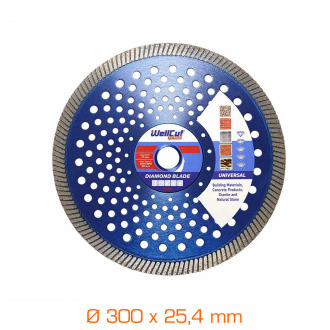 Disque diamant universel Turbo - Ø300 mm x 25.4 mm