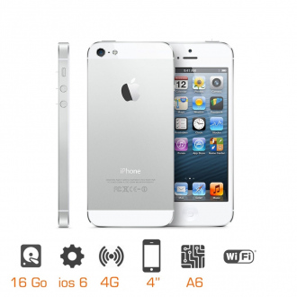 iPhone 5 reconditionné Grade A - 16 Go - Blanc