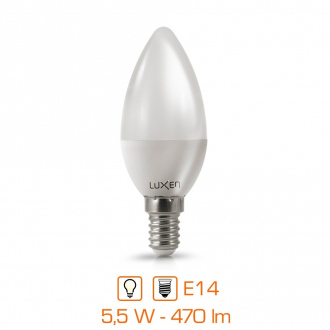 Ampoule LED bougie - E14 - 5,5W - 470lm - blanc neutre