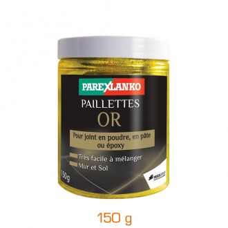 Paillettes pour joint de carrelage - pot 150 g - or