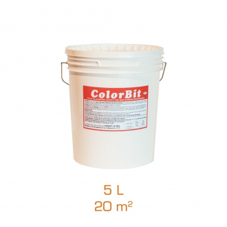 ColorBit - Vernis de protection coloré à l'eau - Gris/Rouge - 5L
