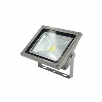 Projecteur LED - 50 W - blanc chaud - aluminium