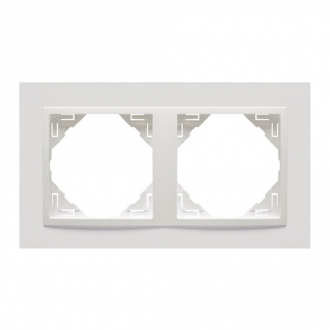 Plaque double - blanc