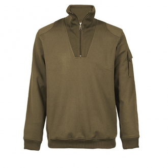 Pull col camionneur LARGO - 350 g/m² - olive - 3XL