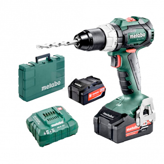 Perceuse à percussion METABO 18V - 2 bat Li-Ion 4,0 Ah + chargeur + METABOX 145