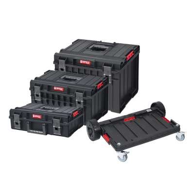 Set de 3 coffrets ultra-résistants QBRICK BASIC + plateforme mobile