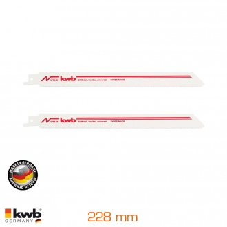 2 hojas para sierra sable, flexibles 228 mm bimetal