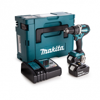 Perceuse à percussion MAKITA BRUSHLESS 18V - 54 Nm - 2 bat Li-Ion 5Ah - coffret MakPac 2 + chargeur