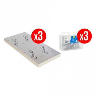 Kit complet isolation RECTICEL FITFORALL® 40 mm - R.1.80 m² k/W - 12.96 m²