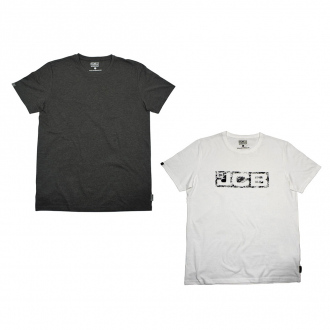 Pack de 2 t-shirts manches courtes ESSENTIAL - 140 g/m² - blanc/gris