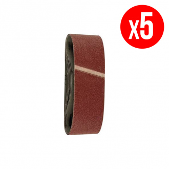 Pack de 5 bandes abrasives - 76x533 mm - grain 120