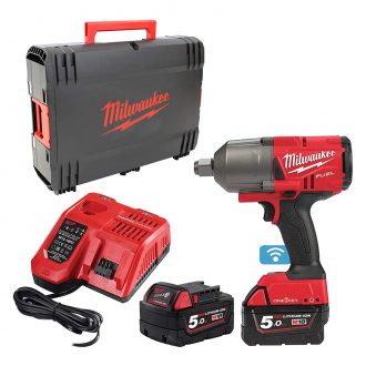 Boulonneuse à chocs MILWAUKEE 18V - 2034 Nm - 2 bat Li-Ion 5Ah + chargeur + coffret