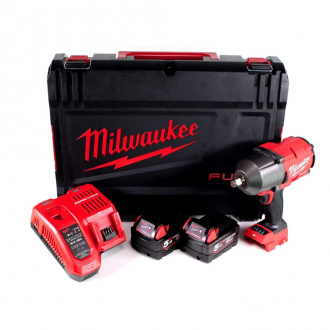 Boulonneuse à chocs MILWAUKEE 18V - 1356 Nm - 2 bat Li-Ion 5Ah + chargeur + coffret