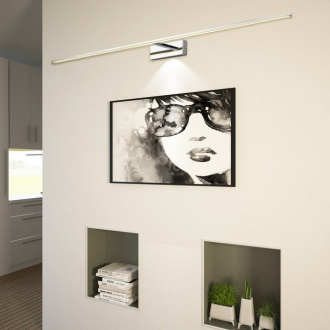 Applique murale LED Espada - 81 x 5 x 12 cm - chrome