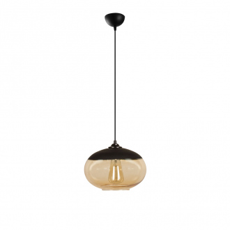 Suspension Camini - Ø 25 x 113 cm - noir & miel