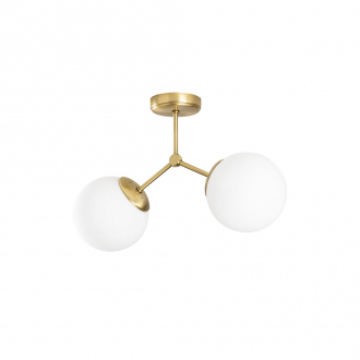Suspension Damar - 44 x 15 x 28 cm - jaune & blanc