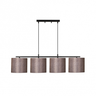 Suspension Valiz - 11 x 25 x 120 cm - noir & marron