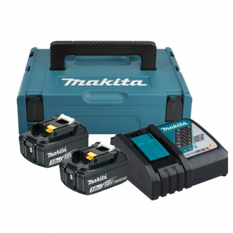 Set MAKITA 18V : 2 bat Li-Ion 3Ah + chargeur + coffret Makpac 1