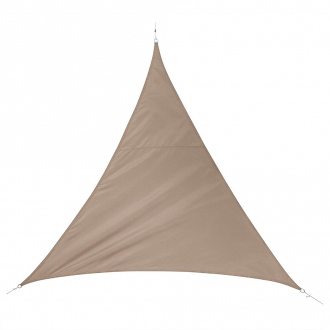 Voile d'ombrage triangulaire QUITO - 3 x 3 m - 160 g/m² - taupe