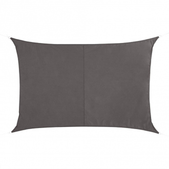 Voile d'ombrage rectangulaire QUITO - 4 x 3 m - 160 g/m² - bronze