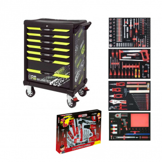 Servante One by One 7 tiroirs edition limitee Fluo 2019 - 260 outils KS Tools