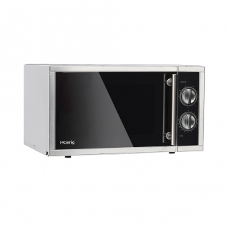Micro-ondes & grill 1000W - plaque Ø27cm - 9 cuissons - noir & inox
