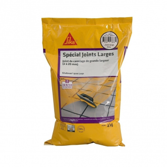 Joint de carrelage grande largeur 2 à 20 mm CG2W - SikaCeram Joint Large - 4 kg - gris